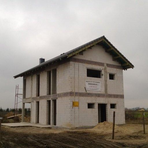 Budowa Domu Jednorodzinnego w Gowarzewie widok z Ulicy