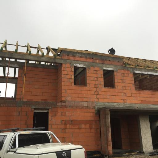 Dom Jednorodzinny Lusowo Budowa Front Budynku