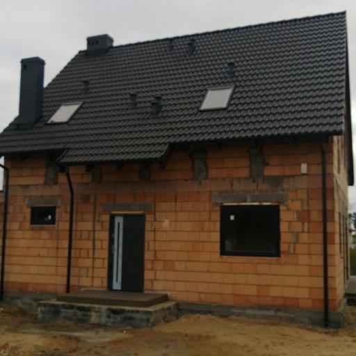 Dom Jednorodzinny Lusowo Zielna przed Tynkowaniem