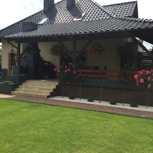 Dom jednorodzinny Skoki Widok z Ogrodu