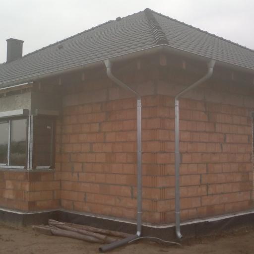 Dom Jednorodzinny w Sczepankowie koło Poznania Przed Tynkowaniem