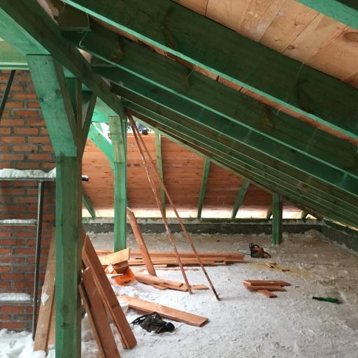 Dom Jednorodzinny Mościenica Budowa Dachu