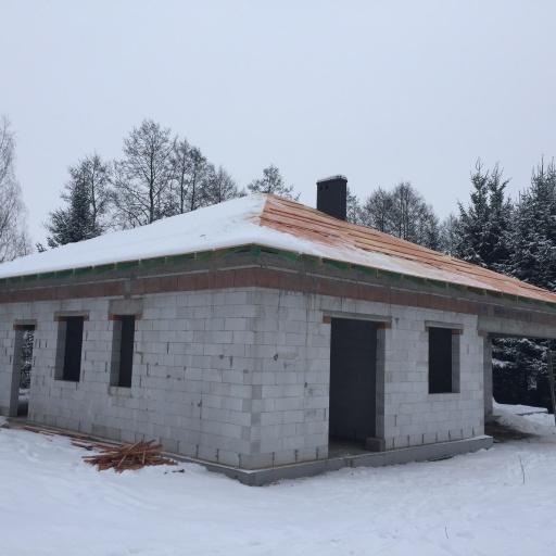 Dom Jednorodzinny Mościenica Budowa Zimą