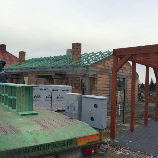 Bliźniak w Gaworzewie W Trakcie Budowy Widok Na Skrzynki