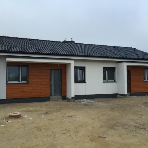 Dom Bliźniak Gowarzewo Pod Poznaniem Gotowy Front Budynku